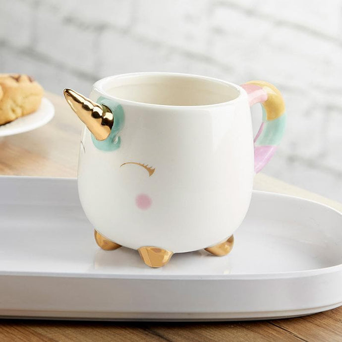 Unicorn 12 oz. Mug with Gold Foil Horn
