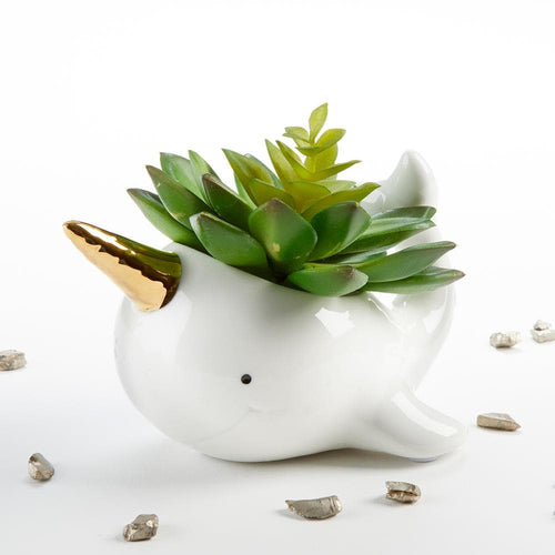Narwhal Ceramic Planter