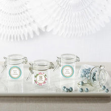 Load image into Gallery viewer, Personalized Tea Time Glass Favor Jars (Set of 12)