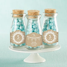 Load image into Gallery viewer, Personalized Rustic Charm Baby Shower Vintage Milk Bottle Favor Jar (Set of 12)