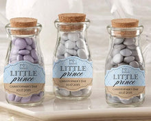 Load image into Gallery viewer, Personalized Little Prince Vintage Milk Bottle Favor Jar Favors (Set of 12)