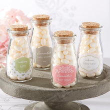 Load image into Gallery viewer, Personalized Rustic Baby Shower Vintage Milk Bottle Favor Jar (Set of 12)