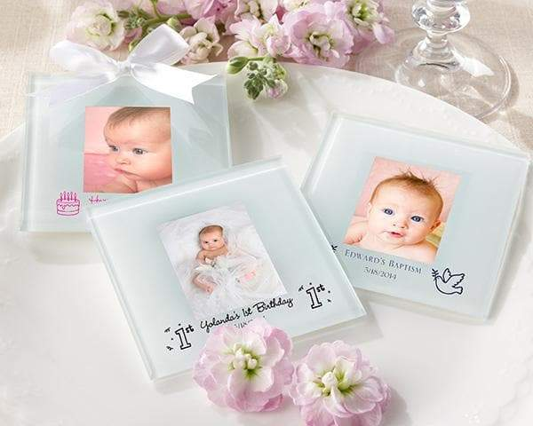 Personalized Baby Frosted Glass Photo Coaster (Set of 12)