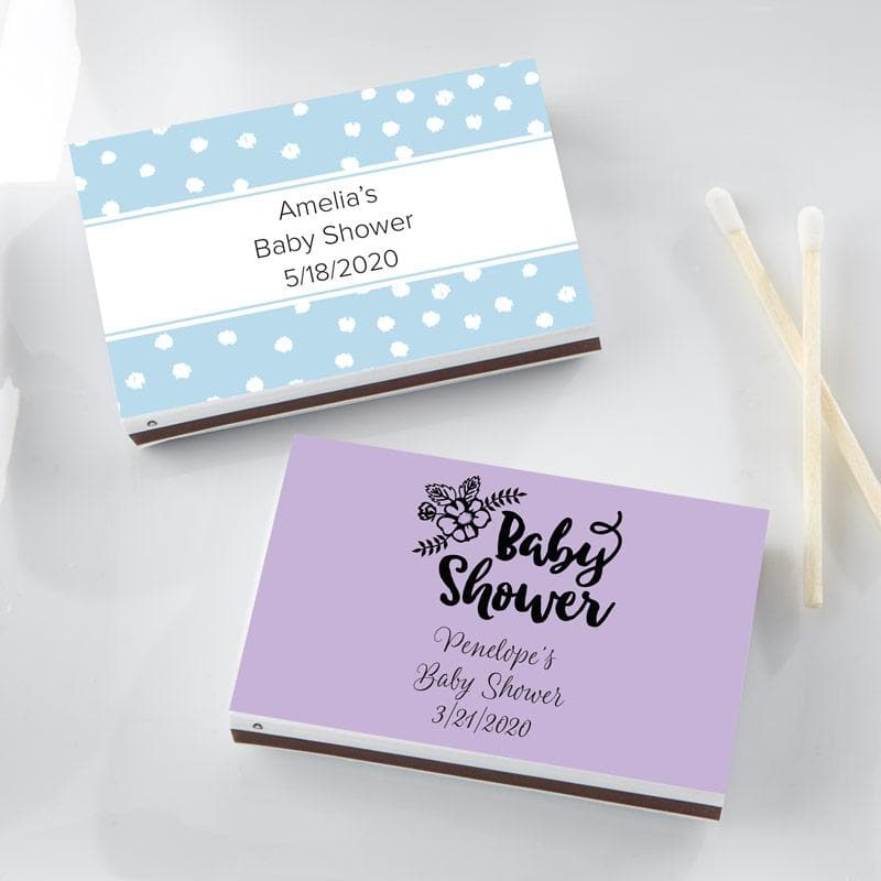 Personalized Baby Shower White Matchboxes (Set of 50)