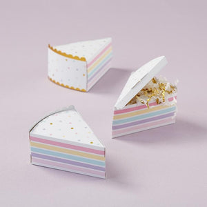 Cake Slice Favor Box (Set of 12)