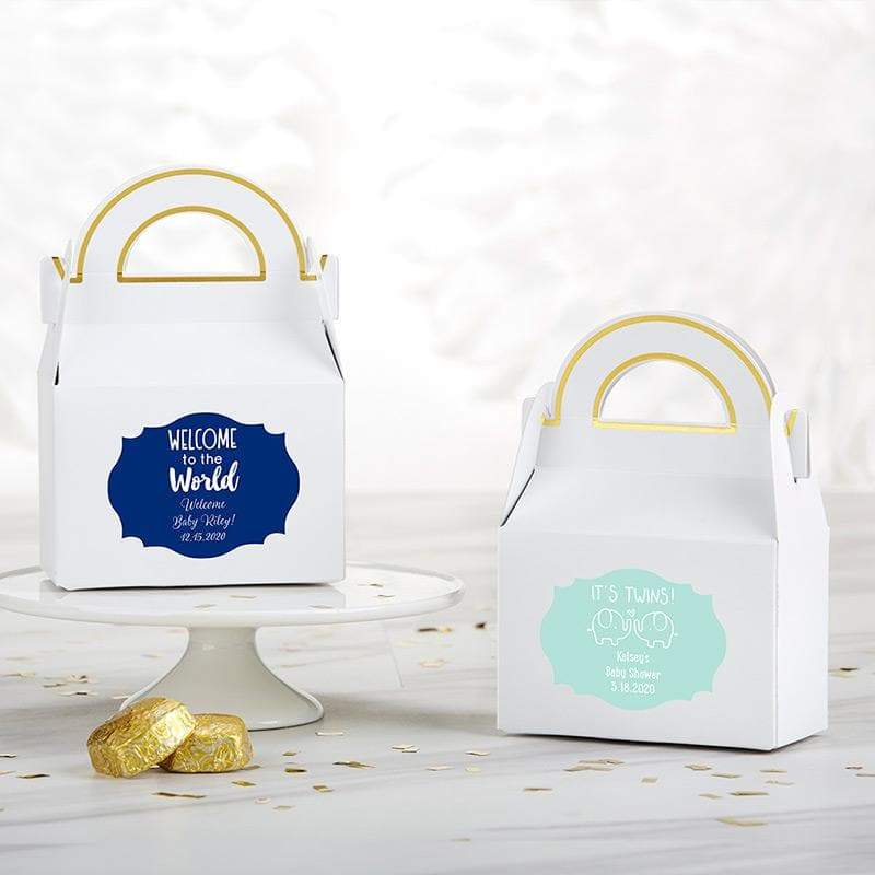 Personalized Baby Shower Gable Favor Box (Set of 12)