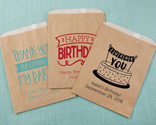 Load image into Gallery viewer, Personalized Adult Birthday Kraft Goodie Bag (Set of 12)