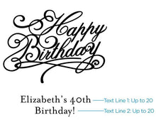 Load image into Gallery viewer, Personalized Adult Birthday White Goodie Bag (Set of 12)