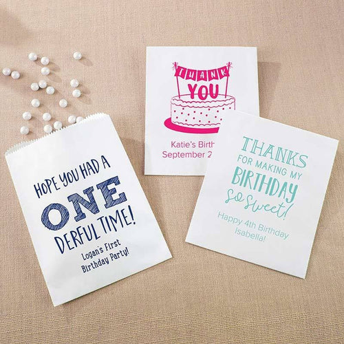Personalized Kids Birthday White Goodie Bag (Set of 12)