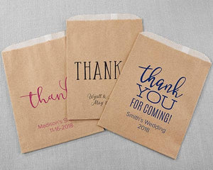 Personalized Thank You Kraft Goodie Bag (Set of 12)