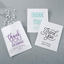 Load image into Gallery viewer, Personalized Thank You White Goodie Bag (Set of 12)