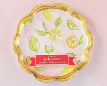 Load image into Gallery viewer, Cheery & Chic Citrus 9 in. Paper Plates (Set of 8)