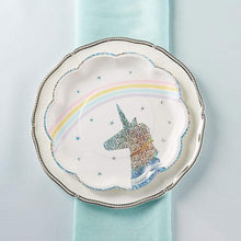 Load image into Gallery viewer, Enchanted Unicorn 9 in. Paper Plates (Set of 8)