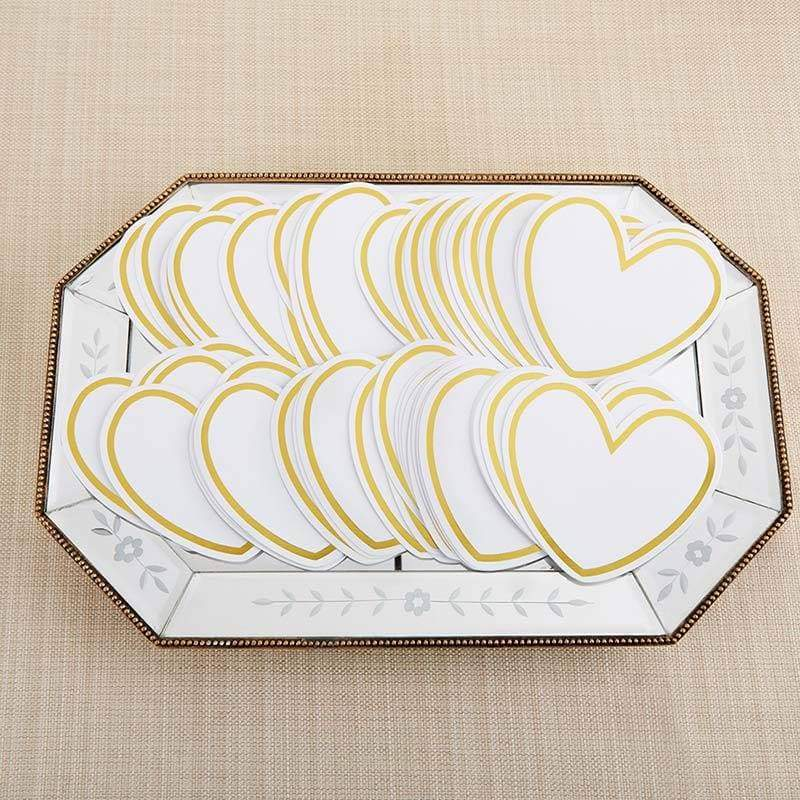 Heart Shaped Cards for Wish Jar (Set of 50)