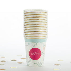 Geometric Floral 8 oz. Paper Cups (Set of 16)