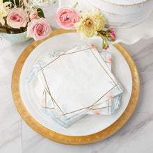 Load image into Gallery viewer, Geometric Floral Napkins (Set of 30)