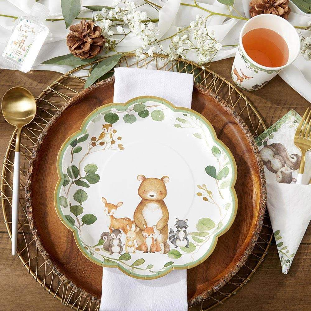 Woodland Baby 9 in. Premium Paper Plates (Set of 16)