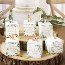 Load image into Gallery viewer, Woodland Baby Favor Box (Set of 24)