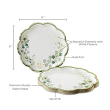 Load image into Gallery viewer, Botanical Garden 9 in. Premium Paper Plates (Set of 16)