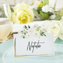 Load image into Gallery viewer, Botanical Garden Tent Place Card (Set of 50)