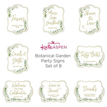 Load image into Gallery viewer, Botanical Garden Décor Sign Kit (Set of 8)