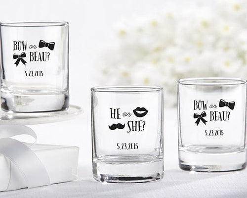 Personalized Gender Reveal 2 oz. Shot Glass/Votive Holder
