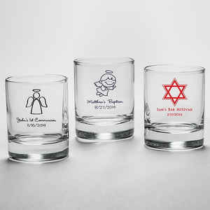 Personalized Religious 2 oz. Shot Glass/Votive Holder