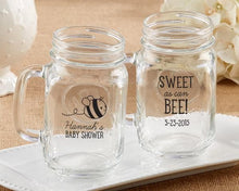 Load image into Gallery viewer, Personalized Sweet as Can Bee 16 oz. Mason Jar Mug