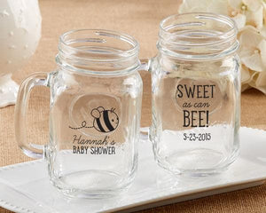 Personalized Sweet as Can Bee 16 oz. Mason Jar Mug