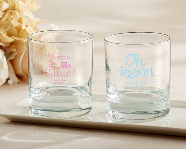 Personalized Baby Shower 9 oz. Rocks Glass