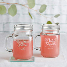 Load image into Gallery viewer, Personalized Baby Shower 12 oz. Mason Jar Mug with Lid