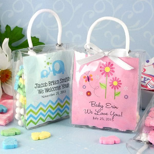 Personalized Hershey's Kisses Tote Baby Shower Favors