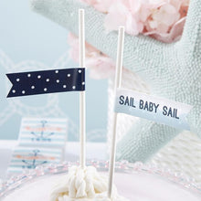 Load image into Gallery viewer, Personalized Nautical Baby Shower Party Flags