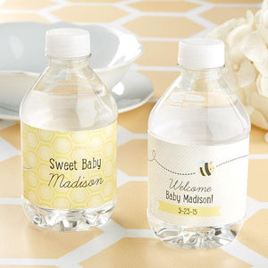 Sweet as can Bee Personalized Water Bottle Labels