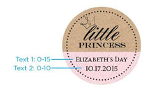 Load image into Gallery viewer, Personalized Little Princess Gold Round Candy Tin (Set of 12)