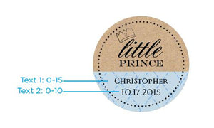 Personalized Little Prince Gold Round Candy Tin (Set of 12)