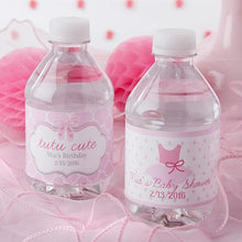Load image into Gallery viewer, Personalized Tutu Cute Ballerina Water Bottle Labels
