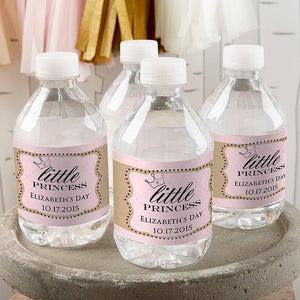 Personalized Little Princess Water Bottle Labels