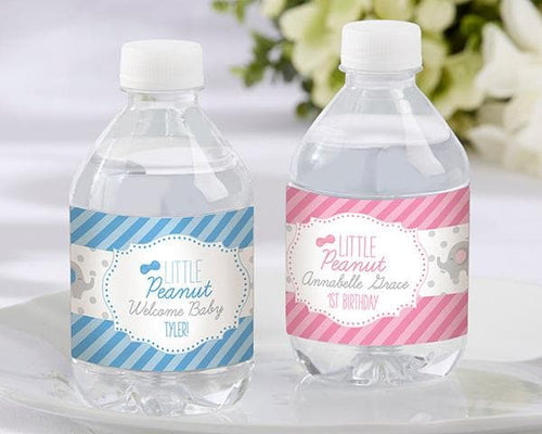 Personalized Little Peanut Elephant Water Bottle Labels