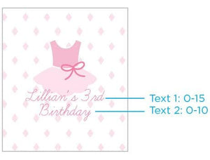 Personalized Lip Balm - Tutu Cute (Set of 12)