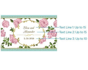 Personalized Tea Time Mini Wine Bottle Labels