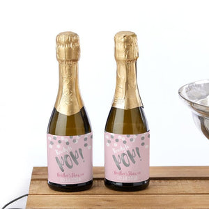 Personalized Mini Wine Labels - Ready to Pop (Girl)