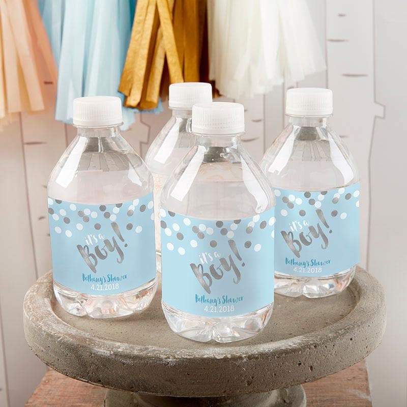 Personalized It's a Boy! Water Bottle Labels