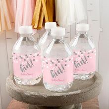 Load image into Gallery viewer, Personalized It's a Girl! Water Bottle Labels