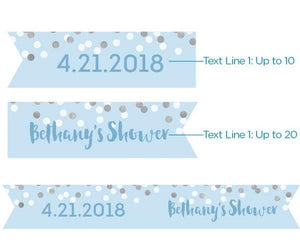 Personalized It's a Boy! Party Straw Flags