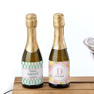 Personalized Cheery & Chic Mini Wine Bottle Labels