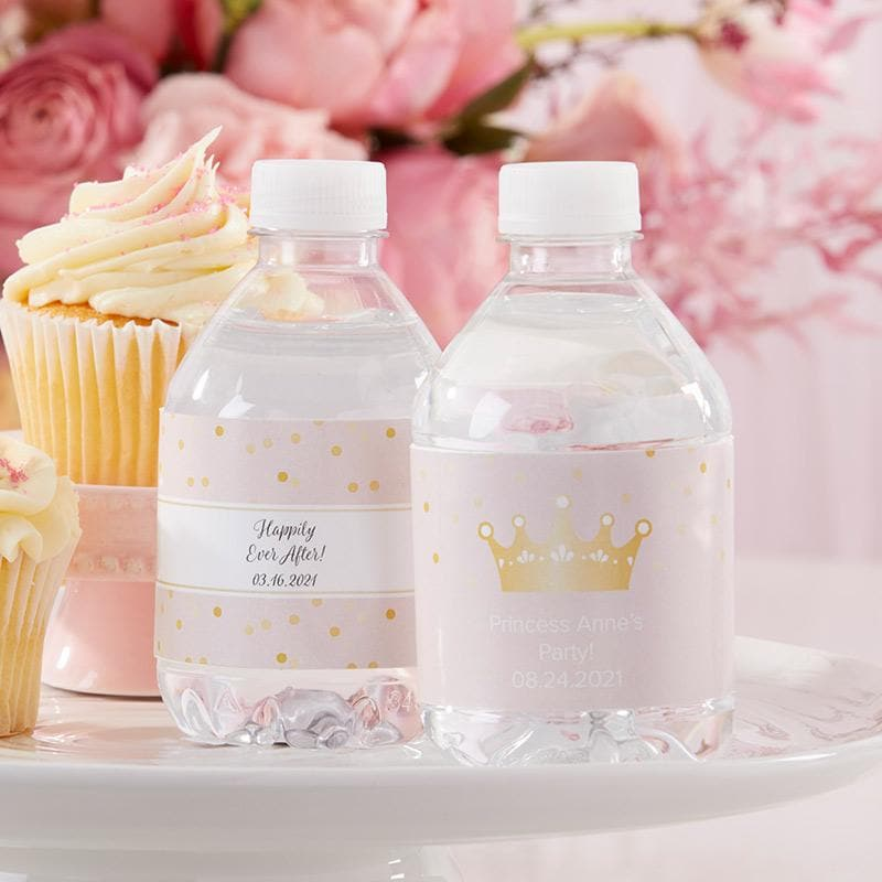 Personalized Princess Party Water Bottle Labels