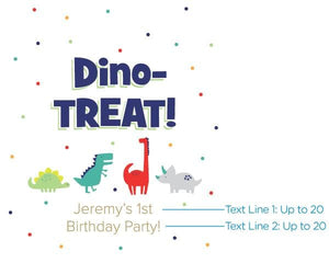 Personalized Dino Party White Goodie Bag (Set of 12)