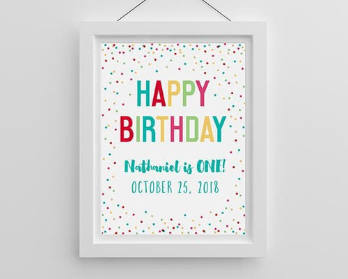 Personalized Happy Birthday Poster (18x24)