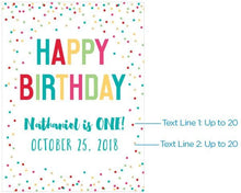 Load image into Gallery viewer, Personalized Happy Birthday Poster (18x24)